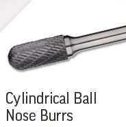 Cylindrical Ball Nose Burrs