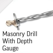 Masonry Drill with Depth Gauge