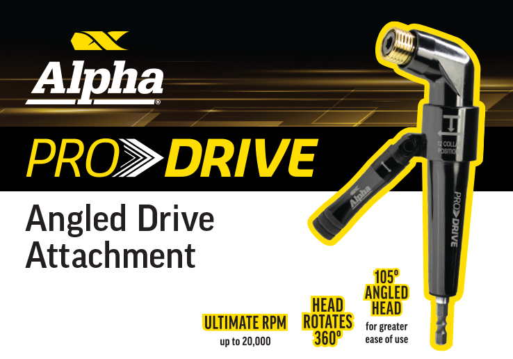 Alpha Pro Drive Angled Drive Attachment