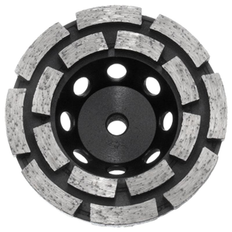 Austsaw - 103mm (4in)   Diamond Cup Wheel Double Row - M10 Thread Bore - Double