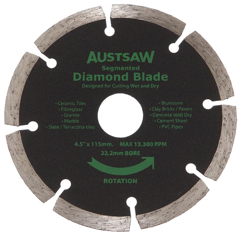 Austsaw 115mm 4 5in Diamond Blade Segmented 22 2mm