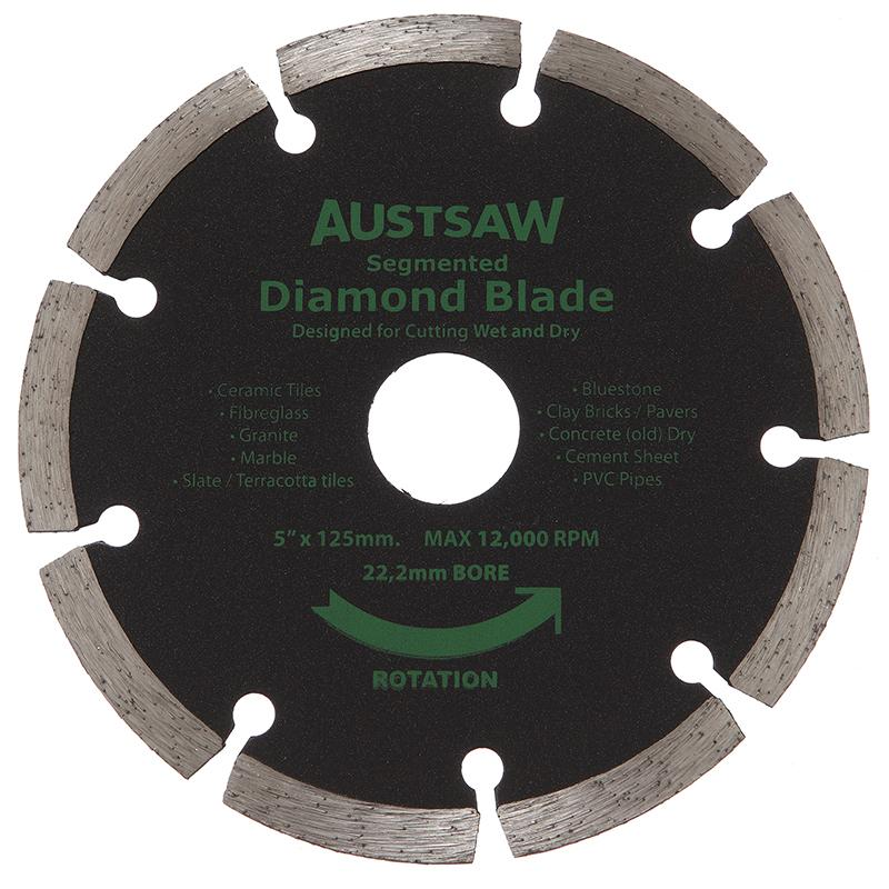 Austsaw 125mm 5in Diamond Blade Segmented 22 2mm