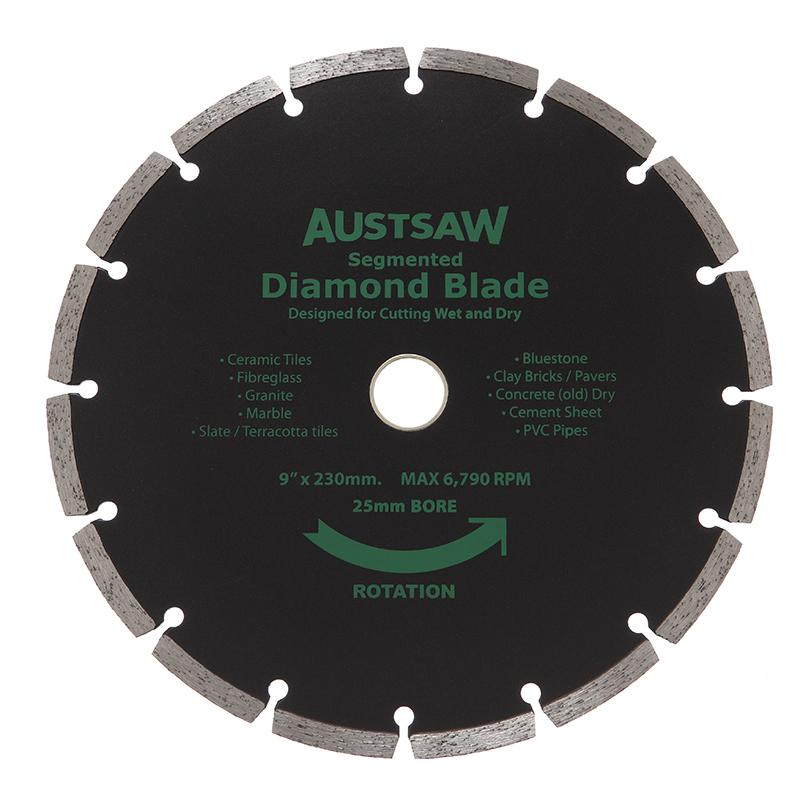 Austsaw 230mm 9in Diamond Blade Segmented 25 22 2mm