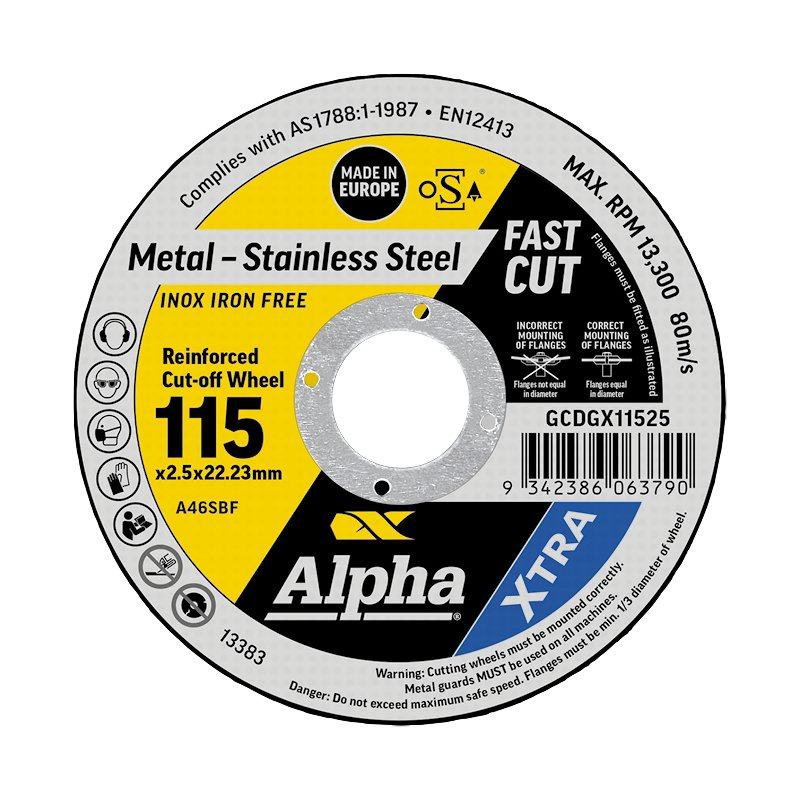 115 x 2.5mm Cutting Disc - Stainless Gold Series II