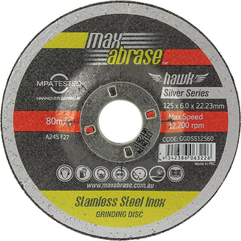 100 x 6.0mm Grinding Disc - Stainless Silver Series