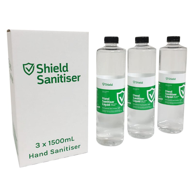 Sterling Shield Hand Sanitiser Liquid suits Bollard | 1.5L | Carton of 3