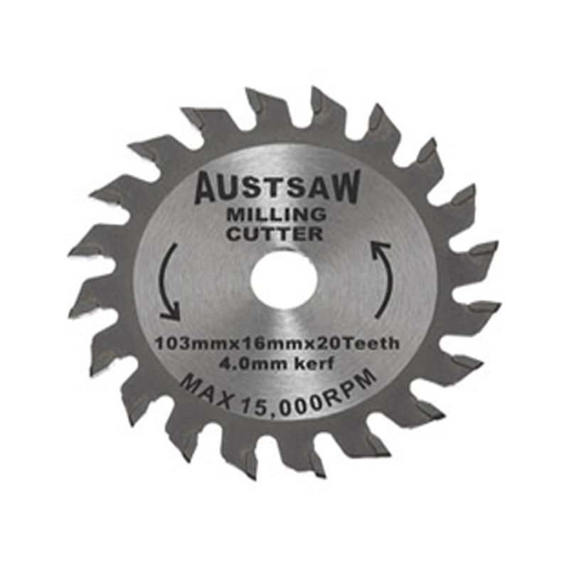 Austsaw - 103mm (4in) 4mm Milling Cutter Blade - 16mm Bore - 20 Teeth