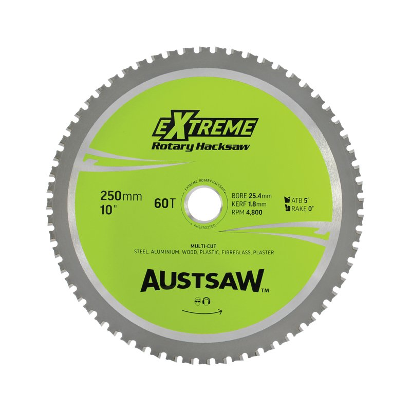 Austsaw 250mm 10in Rotary Hacksaw Blade 25 4mm Bore