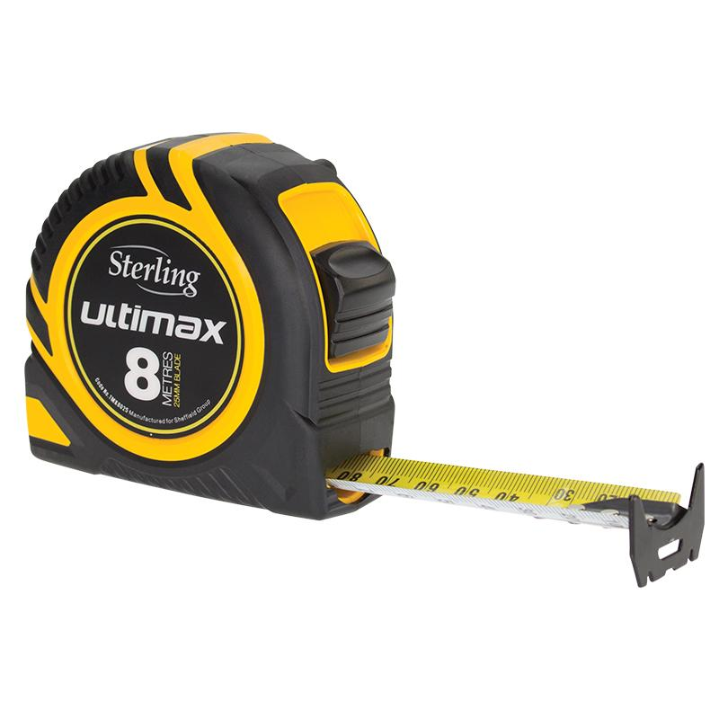 Sterling Ultimax Tape Measure: 8m x 25mm Metric