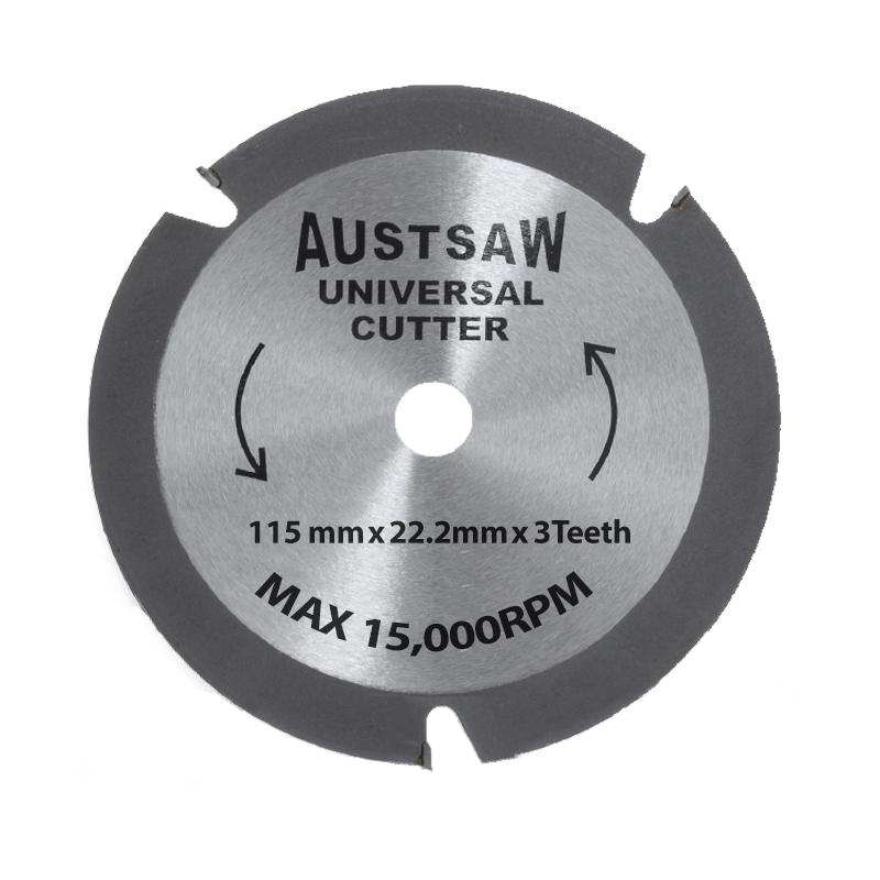 Austsaw - 115mm (4.5in) Universal Cutter - 22.2mm Bore - 3TCT Teeth