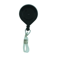 Lockable Retractable Key Ring Holder - Black