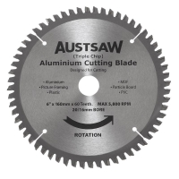 Austsaw - 160mm (6 1/4in) Aluminium Blade Triple Chip - 20/16mm Bore - 60 Teeth