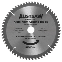 Austsaw - 203mm (8in) Aluminium Blade Triple Chip - 25/16mm Bore - 60 Teeth