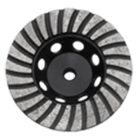 Austsaw - 103mm (4in)   Diamond Cup Wheel Turbo Row - M10 Thread Bore - Turbo Ro