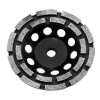Austsaw - 125mm (5in)   Diamond Cup Wheel Double Row - M14 Thread Bore - Double