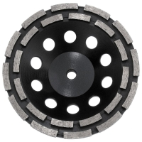Austsaw - 185mm (7in)   Diamond Cup Wheel Double Row - M14 Thread Bore - Double