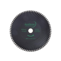 Austsaw - 103mm (4in) Diamond Blade Super Turbo Wave - 16mm Bore - Super Turbo