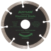 Austsaw - 115mm (4.5in) Diamond Blade Segmented - 22.2mm Bore - Segmented
