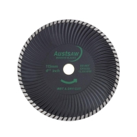 Austsaw - 115mm (4.5in) Diamond Blade Super Turbo Wave - 22.2mm Bore - Super Tur