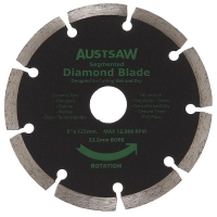 Austsaw - 125mm (5in) Diamond Blade Segmented - 22.2mm Bore - Segmented
