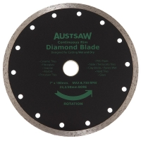 Austsaw - 185mm(7in) Diamond Blade Continuous Rim - 22.2/20mm Bore - Continuous