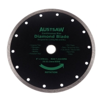 Austsaw - 200mm(8in) Diamond Blade Continuous Rim - 25/22.2mm Bore - Continuous