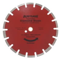 Austsaw - 300mm(12in) Diamond Blade Segmented Asphalt - 25.4/20mm Bore - Asphalt