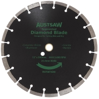 Austsaw - 300mm (12in) Diamond Blade Segmented General Purpose - 25.4/20mm Bore