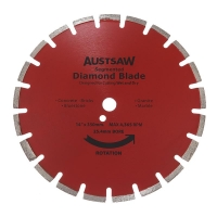 Austsaw - 350mm (14in) Diamond Blade Segmented Asphalt - 25.4/20mm Bore - Asphal
