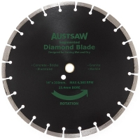 Austsaw - 350mm (14in) Diamond Blade Segmented General Purpose - 25.4/20mm Bore