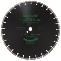 Austsaw - 400mm(16in) Diamond Blade Segmented General Purpose - 25.4/20mm Bore -