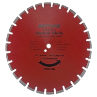 Austsaw - 450mm(18in) Diamond Blade Segmented Asphalt - 25.4mm Bore - Asphalt