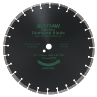 Austsaw - 530mm(20in) Diamond Blade Segmented General Purpose - 25.4mm Bore - Ge