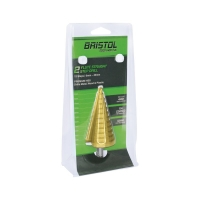 Bristol 6-40mm Straight Flute Step Drill - Carded
