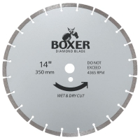 Austsaw/Boxer - 350mm (14in) Diamond Blade Boxer Segmented - 25.4/20mm Bore - Se