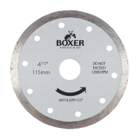 Austsaw/Boxer - 115mm (4.5in) Diamond Blade Boxer Continuous Rim - 22.2mm Bore -