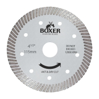 Austsaw/Boxer - 115mm (4.5in) Diamond Blade Boxer Ultra Thin - 22.2mm Bore - Ult