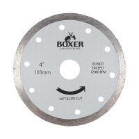 Austsaw/Boxer - 103mm (4in) Diamond Blade Boxer Continuous Rim - 16mm Bore - Con