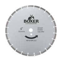 Austsaw/Boxer - 103mm (4in) Diamond Blade Boxer Segmented - 16mm Bore - Segmente