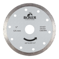 Austsaw/Boxer - 125mm (5in) Diamond Blade Boxer Continuous Rim - 22.2mm Bore - C