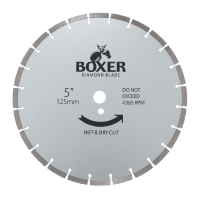 Austsaw/Boxer - 125mm (5in) Diamond Blade Boxer Segmented - 22.2mm Bore - Segmen