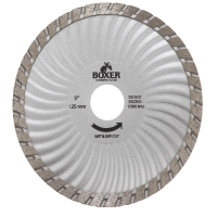 Austsaw/Boxer - 125mm (5in) Diamond Blade Boxer Super Turbo Wave - 22.2mm Bore -