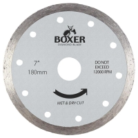 Austsaw/Boxer - 185mm (7in) Diamond Blade Boxer Continuous Rim - 22.2/20mm Bore