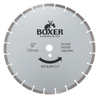 Austsaw/Boxer - 235mm (9in) Diamond Blade Boxer Segmented - 25/22.2mm Bore - Seg