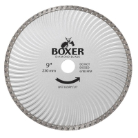 Austsaw/Boxer - 235mm (9in) Diamond Blade Boxer Super Turbo Wave - 25/22.2mm Bor
