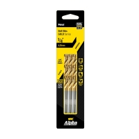 1/4in (6.35mm) Jobber Drill Bit - Gold Series 5 pce Trade Pack