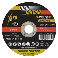 Carded (x3) 100 x 1.0mm Cutting Disc - Stainless Gold Series II