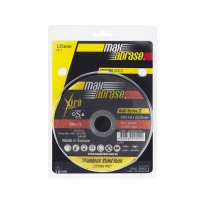 Carded (x5) 125 x 1.6mm Cutting Disc - Stainless Gold Series II