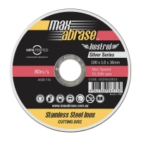 Carded (x10) 100 x 1.0mm Cutting Disc - Stainless Silver Series
