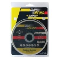 Carded (x10) 115 x 1.0mm Cutting Disc - Stainless Silver Series